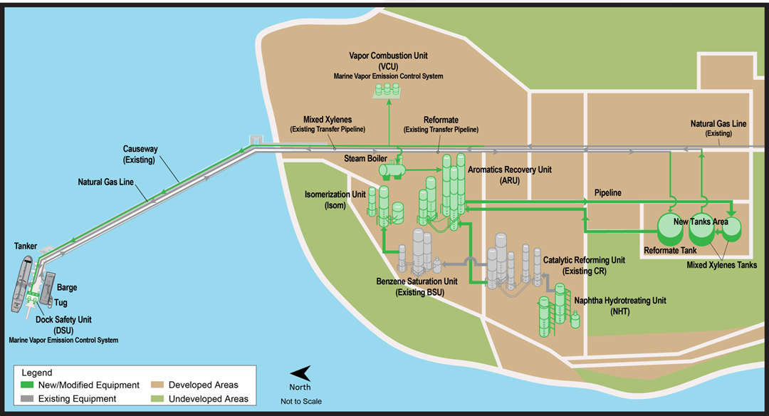 Map of Tesoro Anacortes refinery